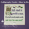 Calligraphy Cards - Shaz in Oz