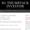 SG ThumbTack Investor - CONTRARIAN, DEEP VALUE INVESTING IDEAS