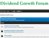 Dividend Growth Forum