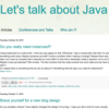 Let's talk about Java