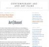 Contemporary Art and Art Fairs