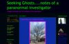 Seeking Ghosts....notes of a paranormal investigator