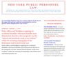New York Public Personnel Law