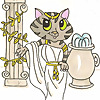 Athena Cat Goddess Wise Kitty | Some Cat Goddess Wisdom and Life with a Creative Mum