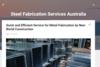 Steel Fabrication Services Australia