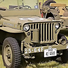 WW2 Jeep and Rifle