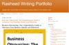 Rasheed Writing Portfolio