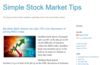 Simple Stock Market Tips